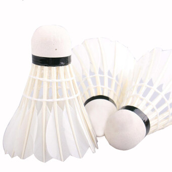 12 pcs Goose Feather Badminton Shuttlecocks Training Sports