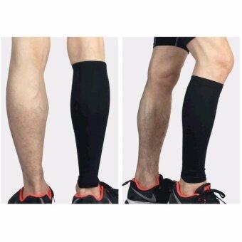 2 Pieces / lot Professional Sports Soccer shin Guard Leg Calf Running Fitness Leg Guard - intl