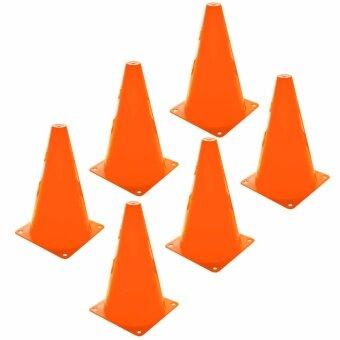กรวย ซ้อมวิ่ง ความสูง 20 ซม. (8นิ้ว) ชุด 6 อัน - สีส้ม / SportTraining Cone