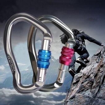 2Pcs 25KN Carabiner Screw Locking Hook for Rock Tree Climbing Rappel Rescue - intl
