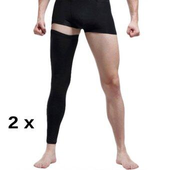 2PCS (A Pair)Adult Youth Compression Knee Calf Sleeves Leg GuardSupport Antislip Sport Football Basketball Cycling Running GymStretch Leg Knee Brace Long Sleeve Protector Gear, L - intl