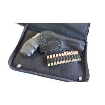กระเป๋าใส่ปืนสั้นอย่างดีแบบผ้า น้ำหนักเบา สำหรับปืนลูกโม่ ขนาด 3 - 5 นิ้ว