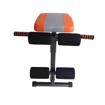 360 Ongsa Fitness เบาะนั่งซิทอัพ MINI FITNESS SIT UP BENCH ( สีส้ม/เทา ) ฟรี!! Push Up Bar สำหรับวิดพื้น (image 1)