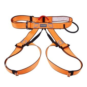 360DSC Xinda Outdoor Half-body Safety Belt Aerial Work Altitude Rock Mountaineering Climbing Harness Rappelling Safety Equipment - Orange