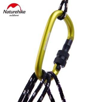 4Pcs NatureHike 6cm D Shape Aluminum Alloy Hiking Climb Carabiner Hook Mountaineering Carabiner Climbing Hooks Buckles