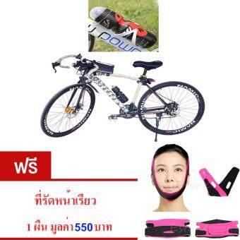 2561 ขวดใส่น้ำดื่ม ขวดใส่น้ำติดเฟรมจักรยาน กระติกน้ำ สำหรับจักรยาน( สีดำ )กระบอกน้ำ น้ำหนักเบาพกพาสะดวก ความจุ650 มล.พร้อมขายึดจับ จำนวน1เซ็ต. ผ้ารัดหน้าเรียว สีชมพู จำนวน 1 ผืน มูลค่า 550 บาท