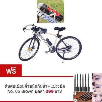ประเทศไทย ขวดใส่น้ำดื่ม ขวดใส่น้ำติดเฟรมจักรยาน กระติกน้ำ สำหรับจักรยาน( สีดำ )กระบอกน้ำ น้ำหนักเบาพกพาสะดวก ความจุ650 มล.พร้อมขายึดจับ จำนวน1เซ็ต. ฟรี ดินสอเขียนคิ้วกันน้ำ พร้อมแปรงปัดขนคิ้ว No.05 Brown มูลค่า 399 บาท