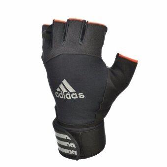 Adidas ADGB-12343SW ถุงมือยกน้ำหนัก Weightlifting Gloves (แถบขาว) L