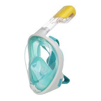 ประเทศไทย Alphasport Super snorke หน้ากากดำน้ำ ไม่ต้องคาบท่อหายใจ รุ่น DP01 ( สีเขียว )