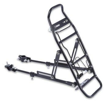 Aluminum Alloy Bicycle Rack Carrier Rear Luggage Cycling Seat Shelf For V-Brake Bike(Black) - intl
