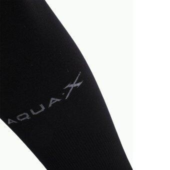 AQUA-x ปลอกแขนกันแดด กันยูวี จากเกาหลี (สีดำ) - free size (image 1)