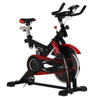 Avarin จักรยานออกกำลังกาย Exercise Spin Bike จักรยานฟิตเนส Spinning Bike รุ่น Falcon( สีดำ ) ฟรี กระบอกน้ำแสตนเลส