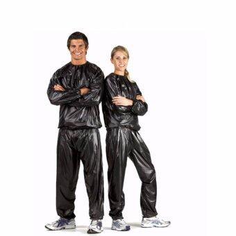 Avarin Weight Sweat Suit Sauna Suit Exercise Gymชุดซาวน่าสำหรับลดน้ำหนัก (Black)