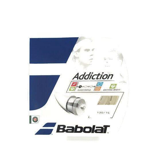 BABOLAT เอ็นเทนนิส ADDICTION 12M 130-16 NATURAL (สีขาวขุ่น)