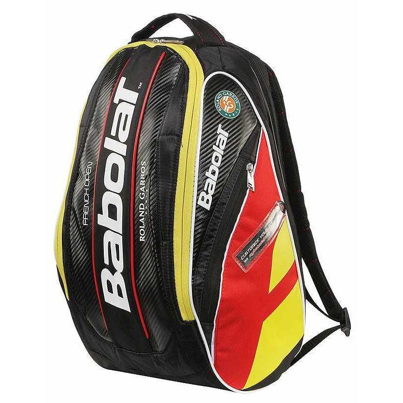 Babolat กระเป๋าเป้ใส่ไม้เทนนิส TEAM FRENCH OPEN BACKPACK (สีดำ/แดง/สีเหลือง)