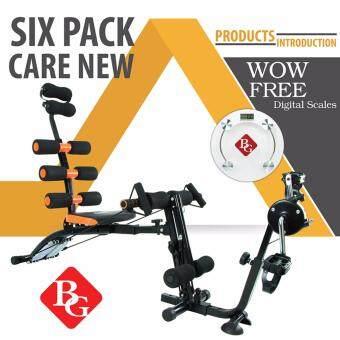 BG เครื่องออกกำลังกาย Six Pack Care NEW พร้อมที่ปั่นจักรยาน (สีดำ/ส้ม) แถมเครื่องชั่งน้ำหนัก