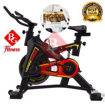 2561 B and G SPIN BIKE จักรยานออกกำลังกาย Exercise Fitness Spin Bike Commercial Grade ระบบสายพาน พร้อมที่จับหน้าจอแท็บเล็ต (Black) - รุ่น S306
