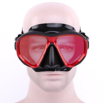 Bang Adult Anti-Fog Electroplating Silicone Colorful Swimming goggles Scuba Snorkeling Diving Mask(Black-Red)