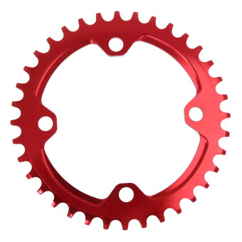 BolehDeals 104mm MTB Race Bike Single Narrow Wide Round Chainring34T Chain Ring Red