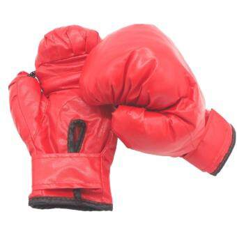 Boxing นวมชกมวย นวมต่อยมวย ซ้อมมวย นวมเด็ก ชกมวย [สีแดง]