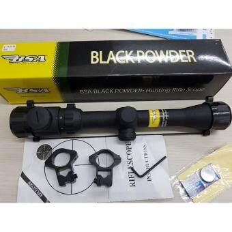 เลนส์ลำกล้องติดปืนไรเฟิ่ล BSA BLACK POWDER 3-9X32 E LampRIFLE SCOPE ขนาด3-9 x 32mm กำลังขยาย 3-9 เท่าระยะหวังผล 100 หลา