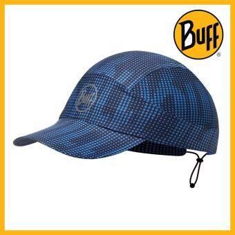 Buff Pack Run Cap หมวกวิ่ง บัฟของแท้ Deep Logo Dark Navy