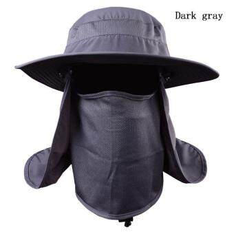BUYINCOINS Wide Brim Hat Camping Fishing Outdoor Sport Sun UV 360°Protection Cap Unisex - intl