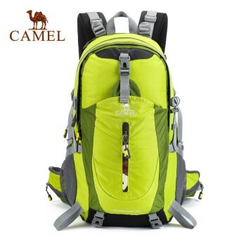 CAMEL 40L กันน้ำกลางแจ้งกีฬาเดินป่าตั้งแคมป์แพ็คกระเป๋าเป้สะพายหลังปีนเขาปีนเขา rain COVER รวม