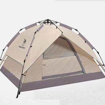 Camel Outdoor Automatic Tents 3-4 Double Tent Sun Visor Waterproof Camping Tent - intl