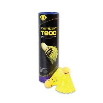 Carlton ลูกขนไก่พลาสติก T 800 6 ลูก (Yellow)