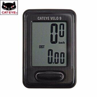 Cateye ไมล์จักรยาน รุ่น Velo 9 สีดำ