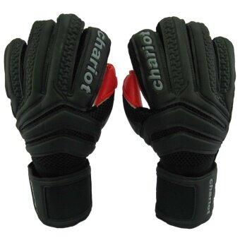 ถุงมือผู้รักษาประตู ถุงมือประตู Chariot CMG-7019 มี Finger Save ดำแดง เบอร์ 7