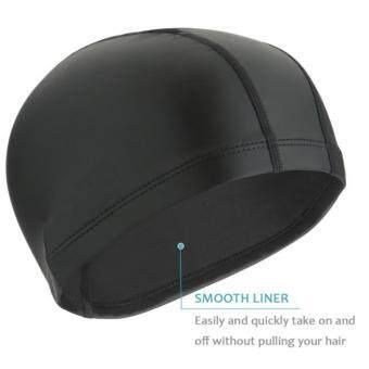Children &Adult Waterproo Anti-fog UV Swimming glasses and PUStretchy Swimming cap Diving Hat combination set - intl - 4