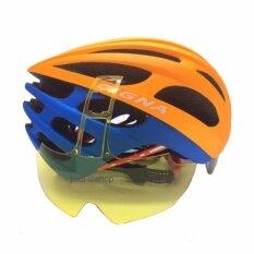 Cigna หมวกจักรยานแบบมีแว่นกันแดดในตัวสามารถถอดเลนส์เปลี่ยนได้แถมเลนส์สำหรับกลางคืนฟรี