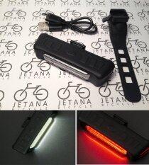 Comet ไฟจักรยาน 2 สี เปลี่ยนสีได้ สีแดง และ สีขาว ใช้เป็นไฟหน้า และ ไฟท้ายได้ในตัวเดียว สว่าง 150 Lumens ชาร์จ USB กันน้ำ