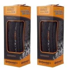 Continental ยางรถจักรยานเสือหมอบ รุ่น Ultra Sport II Tire 700x23 (Black) 2 เส้น