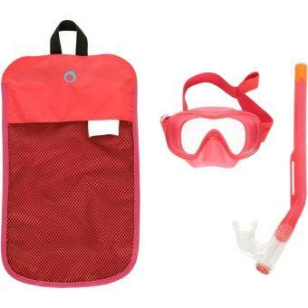 ซื้อ/ขาย ชุดหน้ากากดำน้ำและท่อหายใจสำหรับเด็ก (สีชมพู Coral Pink)