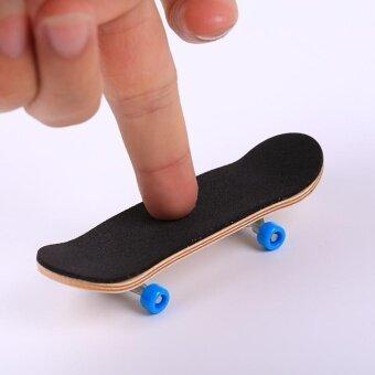 ราคา Creative Complete Wooden Fingerboard Finger Skate Grit Box Foam Wood Colours - intl