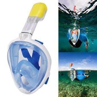 หน้ากากดำน้ำ แบบเต็มหน้า หายใจสะดวก หายใจทางจมูกขณะดำน้ำ ไม่ต้องคาบท่อ รุ่น DP01N (L/XL)