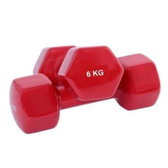 ดัมเบล Dumbbell 6 KG รุ่น Dumbbell 6 KG 2 ชิ้น (สีแดง)