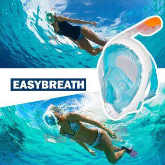 หน้ากากดำน้ำพร้อมด้วยท่อหายใจ EASYBREATH® อุปกรณ์ดำน้ำตื้น เรียนดำน้ำ snorkel SIZE M