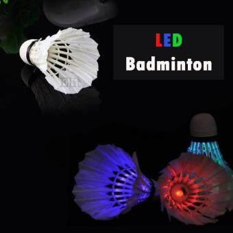 Elit ลูกขนไก่แบตมินตันเรืองแสง ไฟกระพริบ LED shuttlecock badminton 1 ชิ้น