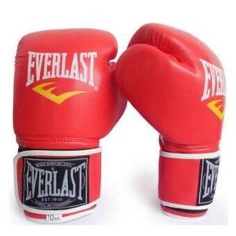 Everlast Boxing Muay Thai Training Glove (Red) - intl
