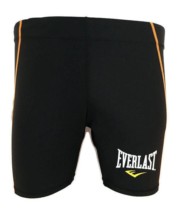 Everlast กางเกงกระชับกล้ามเนื้อ WOMEN COMPRESSION SHORTS (BLACK/ORANGE)