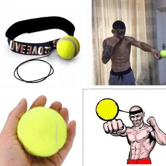 Fight Elastic Ball with Head Band for Reaction Speed TrainingBoxing Punch Exercise Color:Red - intl