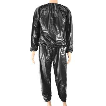 Fitness Waterproof PVC Heavy Duty Sauna Suit Sweat Clothes GymTraining Slimming Workout Weight Loss Sauna Clothes L Size - intl