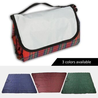 Foldable Moisture Proof Picnic Beach Camping Mat Blanket withHandle (Blue) - intl - 5