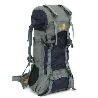 อัศวินมี 60ลิตรขนาดใหญ่พิเศษกันน้ำเดินป่าปีนเขาอาชีพกีฬากลางแจ้งไนล่อนกระเป๋าเป้กระเป๋าท่องเที่ยว mountianeering (สีดำ)
