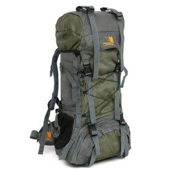 อัศวินมี 60ลิตรขนาดใหญ่พิเศษกันน้ำเดินป่าปีนเขาอาชีพกีฬากลางแจ้งไนล่อนกระเป๋าเป้กระเป๋าท่องเที่ยว mountianeering (สีเขียว)