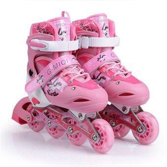 รองเท้าสเก็ต โรลเลอร์เบลด รุ่น G-MIQI ไซส์ 34-37(สีชมพู)